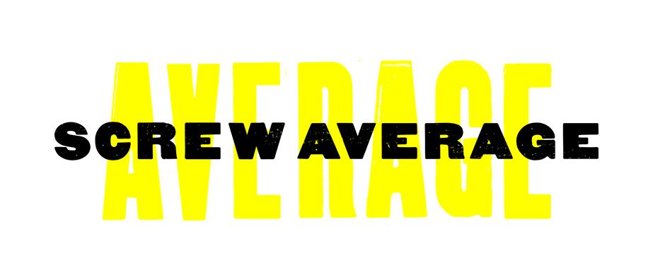 Strategic creative agency screw average letterpress image