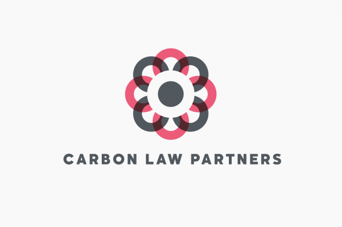 Carbon law partners logo flourish
