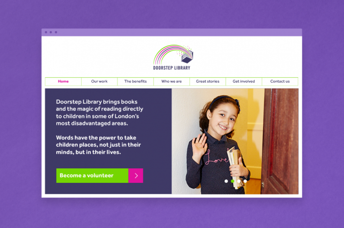 Doorstep library literacy charity responsive website visual
