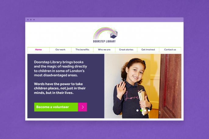 Doorstep library literacy charity responsive website visual