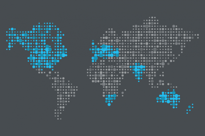 Global map showing Innovation Group's locations