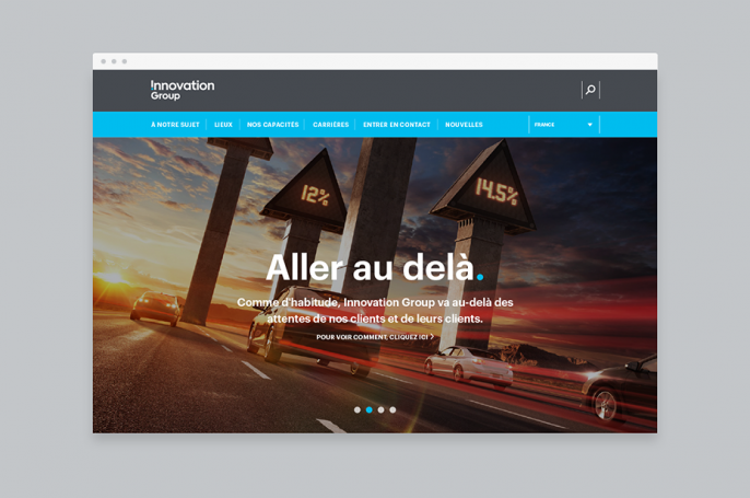 Innovation group responsive website in french translation