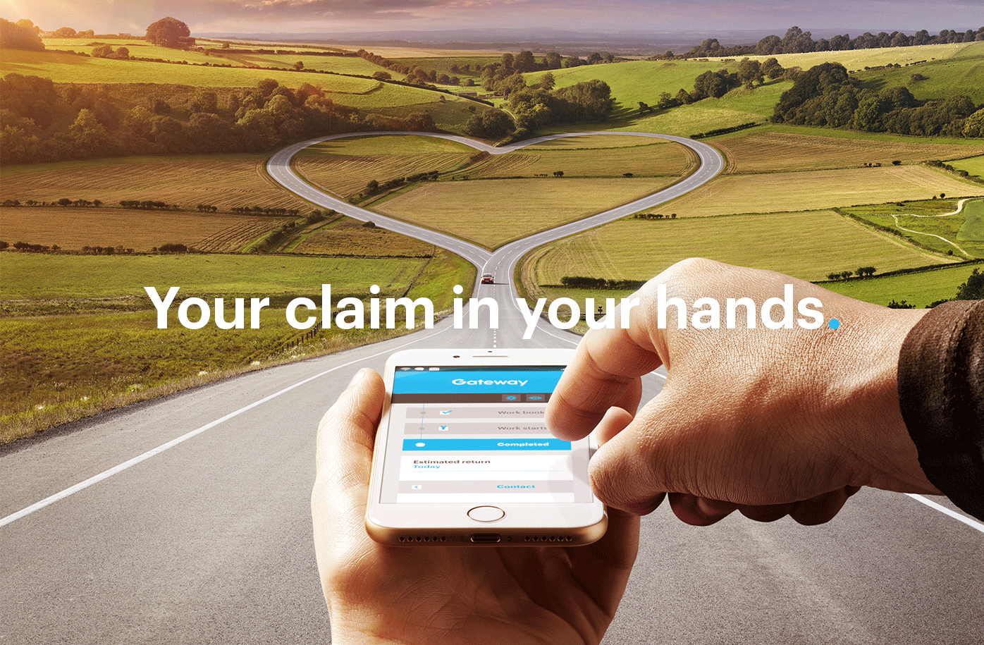 Photography showing your claim in your hands