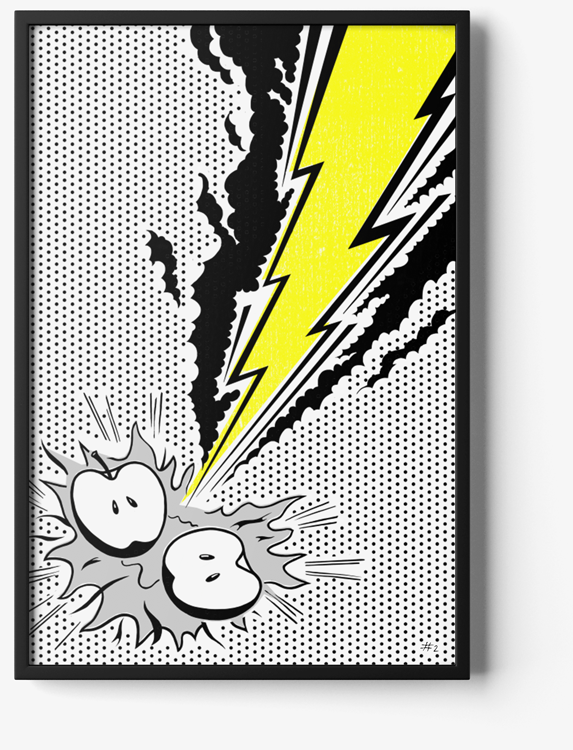illustration of lightning bolt striking at the core of a brand