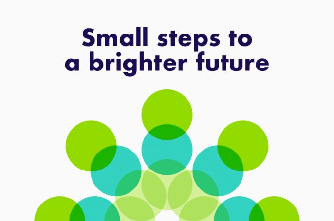 Small steps to a brighter future - brand language