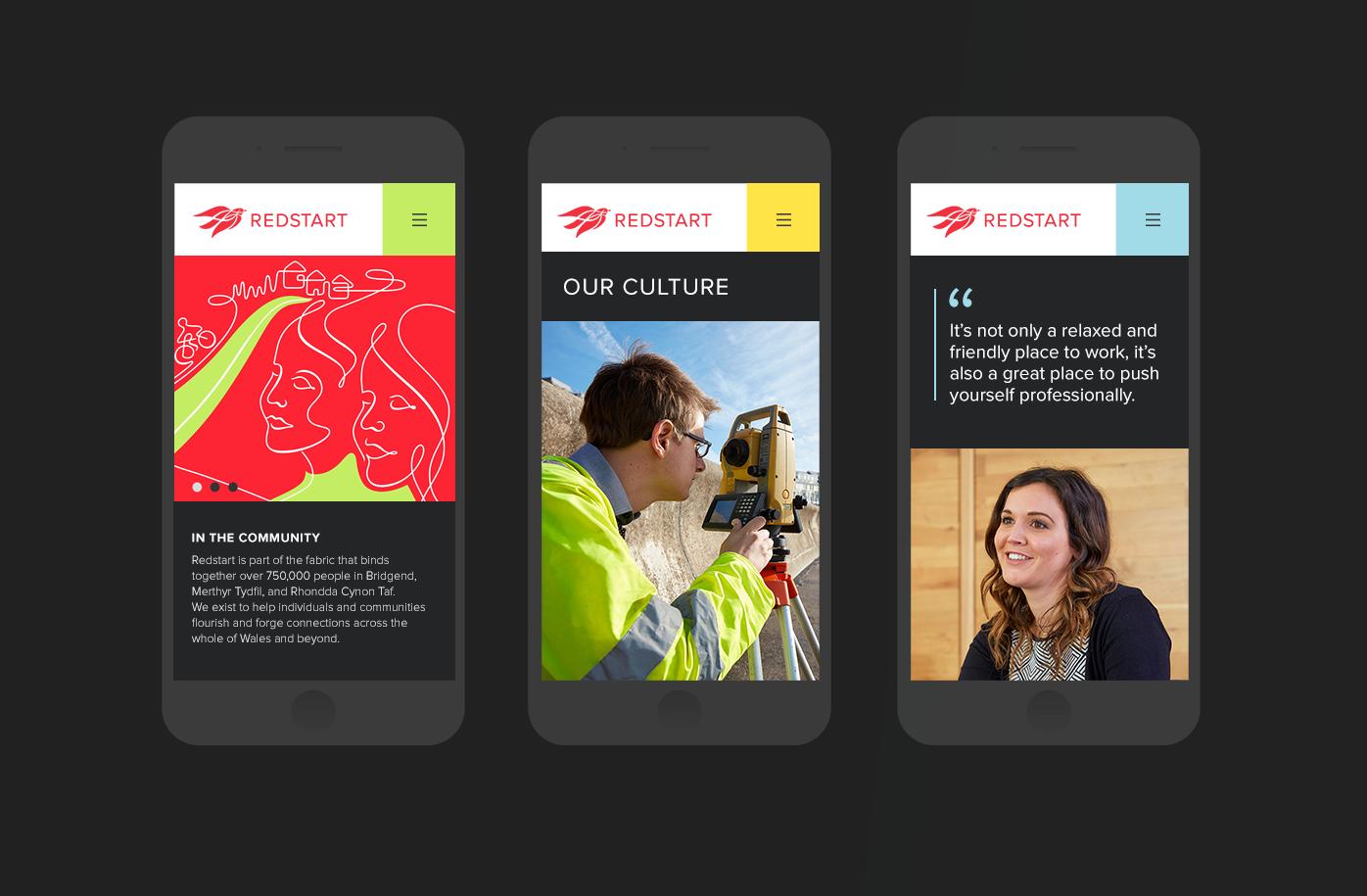 responsive website design on mobile