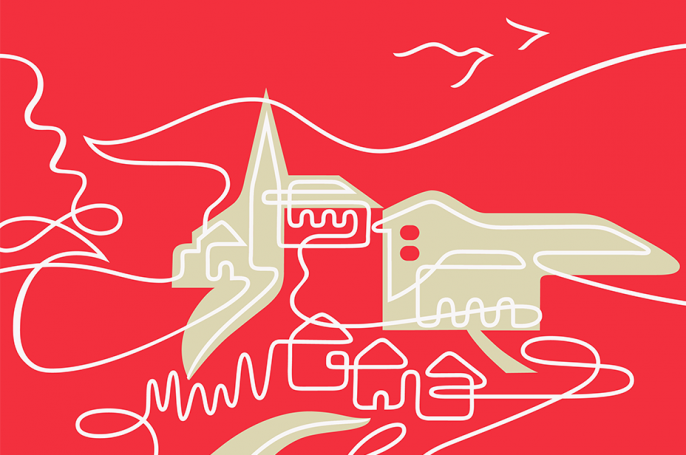 illustration for joint venture brand of a welsh town