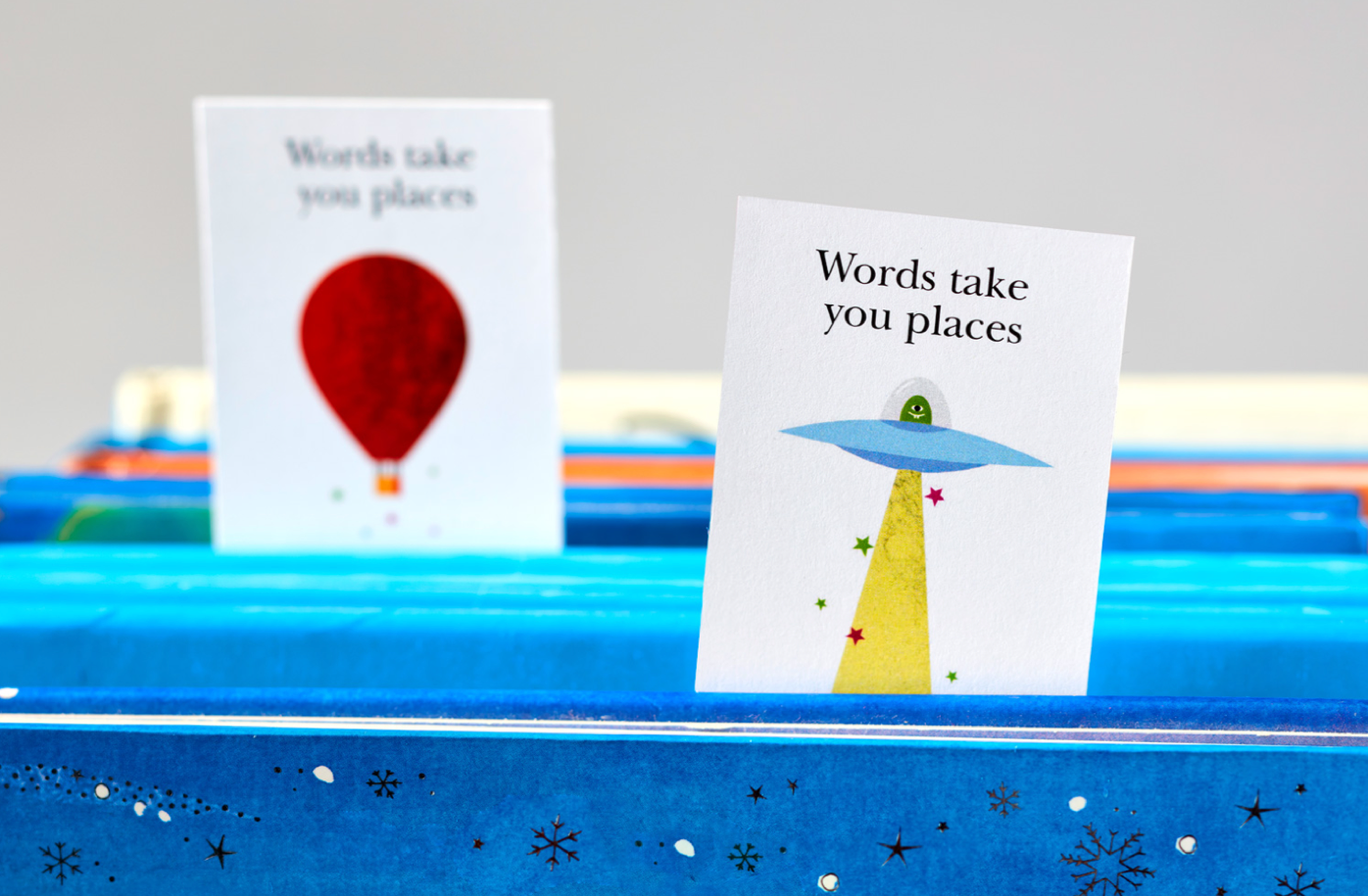 Words take you places bookmarks