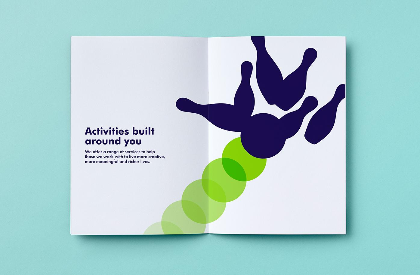 Milestones Trust charity brochure spread
