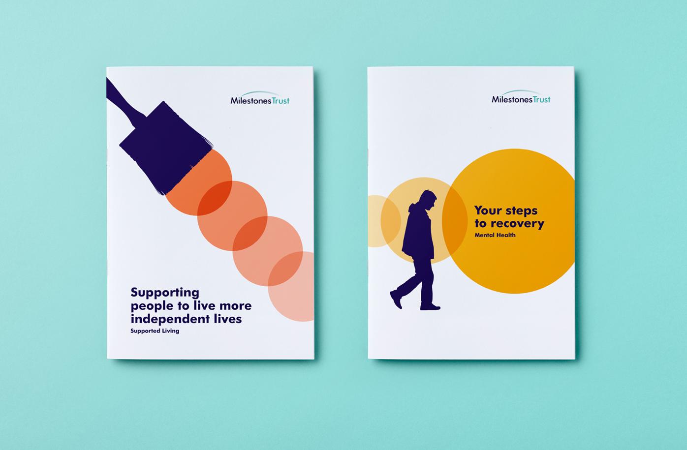 Milestones Trust charity brochures