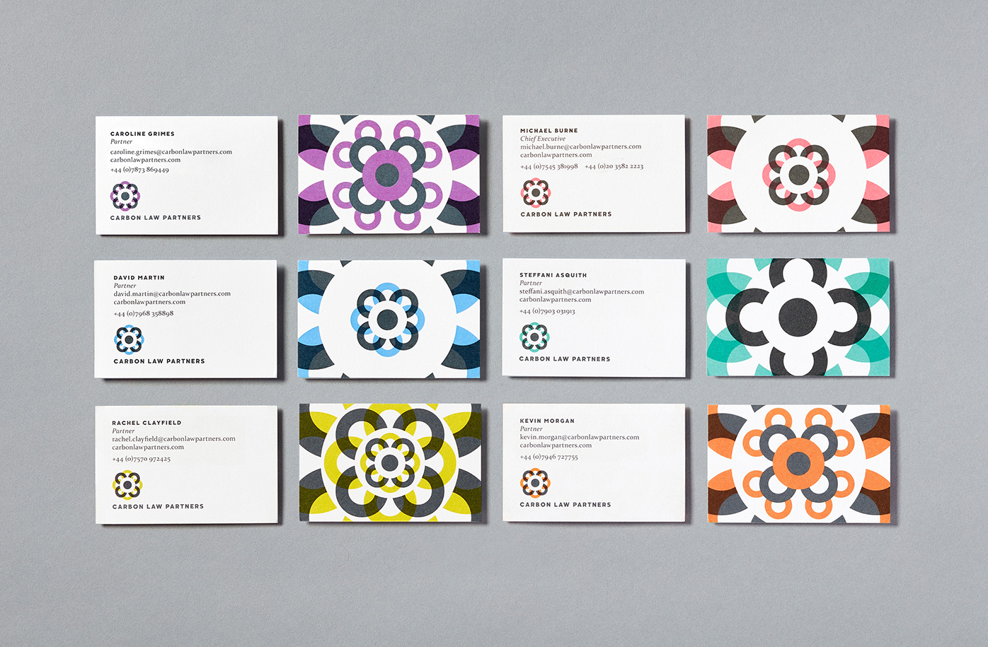 Carbon law partners business cards