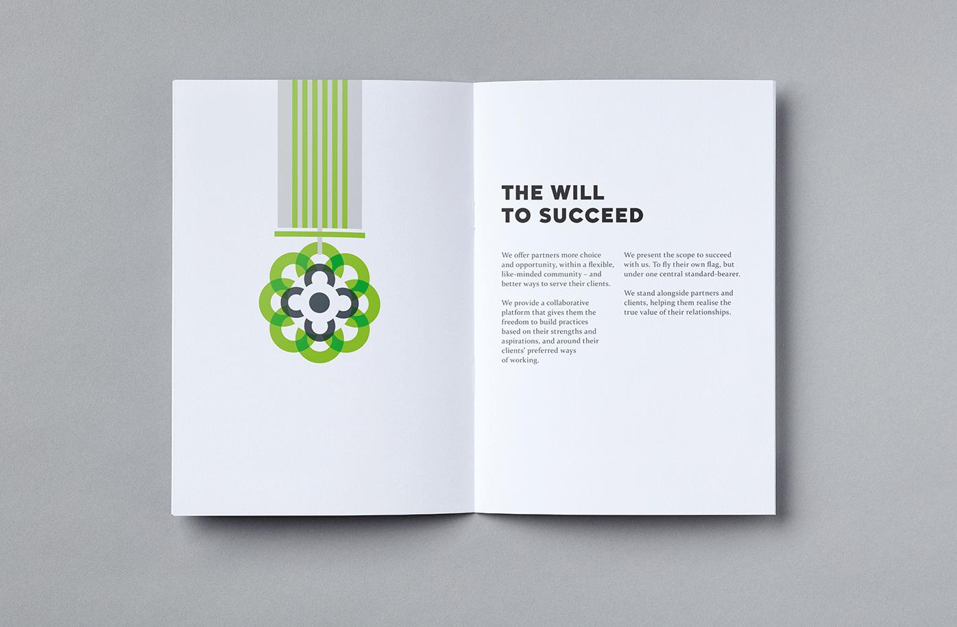 Carbon illustrative brochure spread
