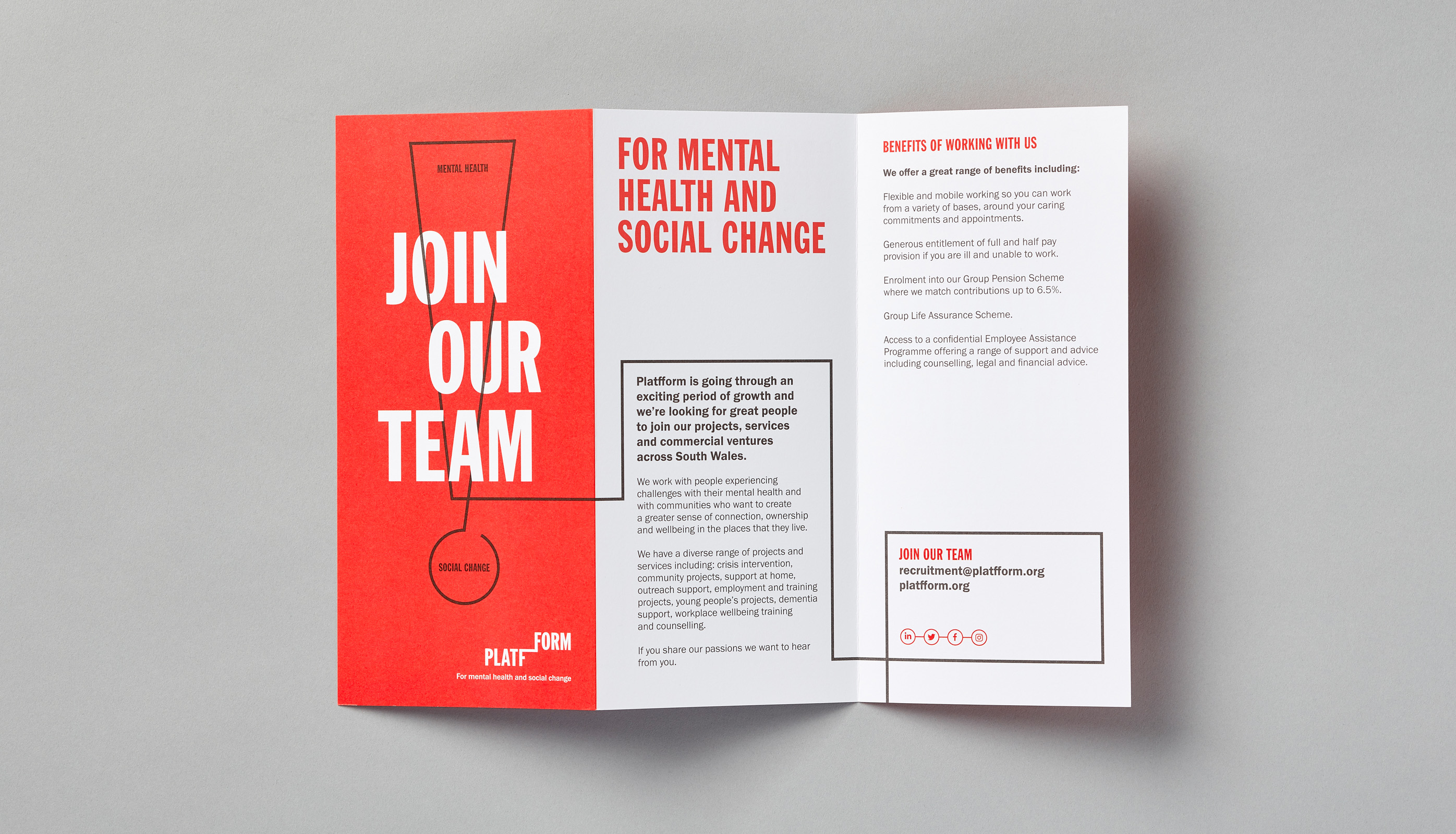 Platfform recruitment leaflet