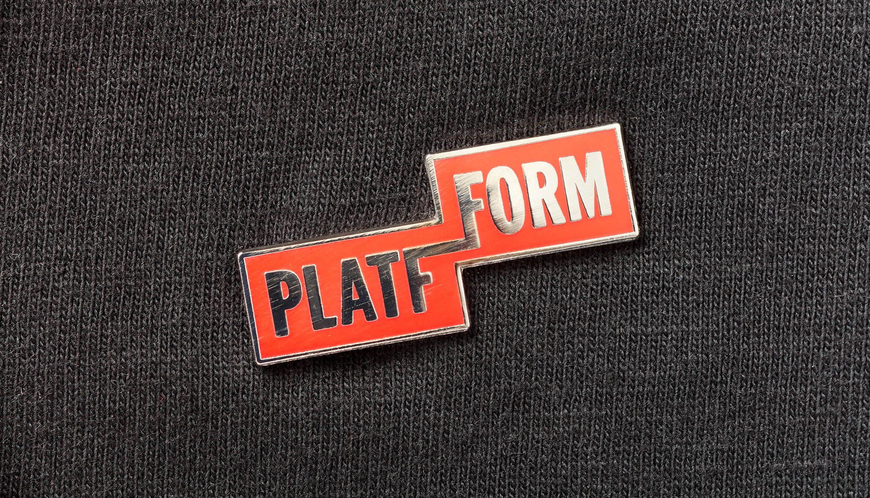 Platfform lapel badge