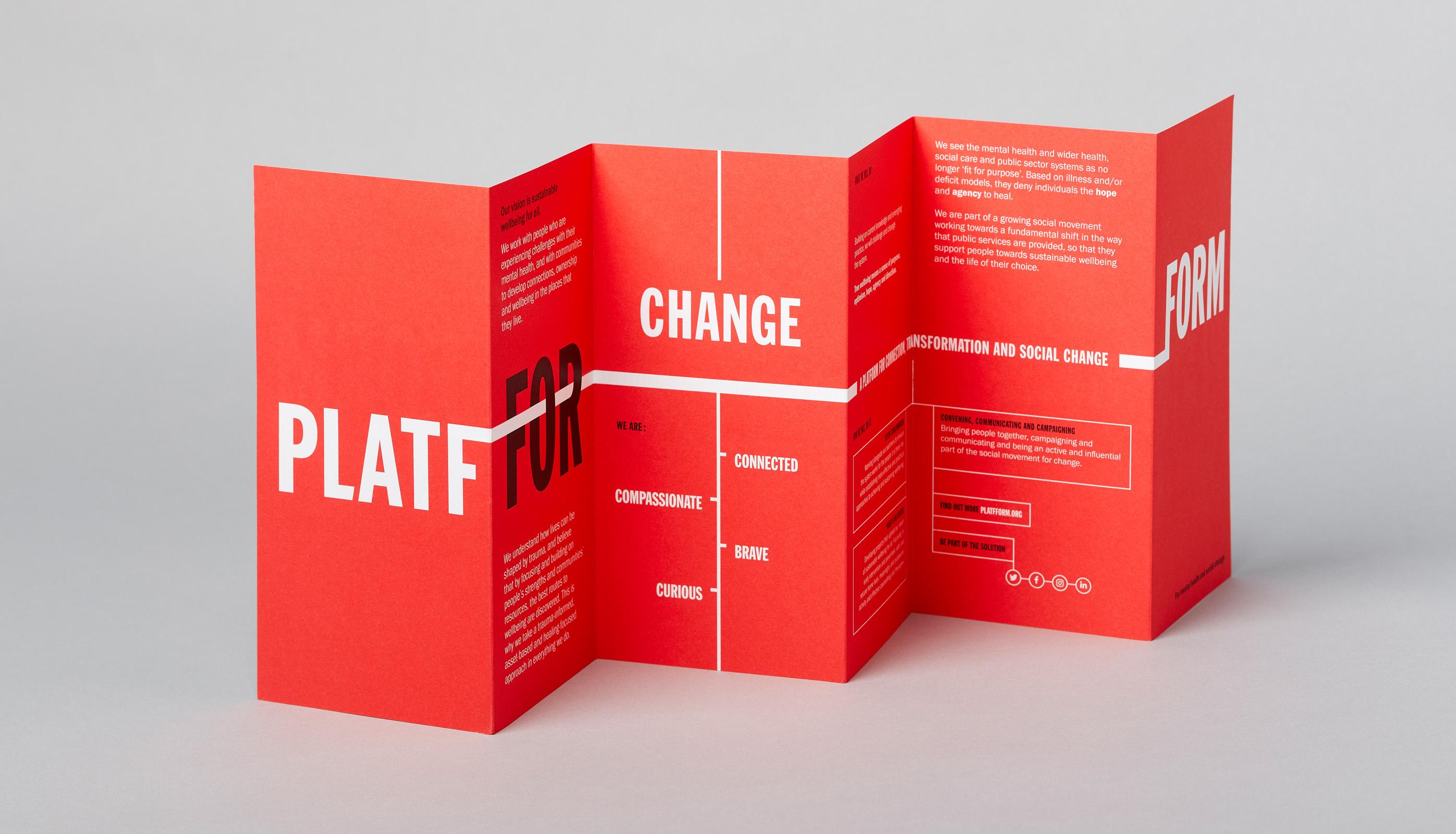 Platfform strategy leaflet